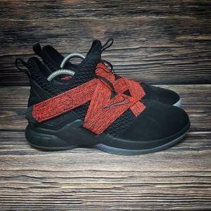 Nike LeBron Soldier XII 12 Black Red Men's 7 Y7